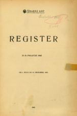 Uradni list Federativne ljudske republike Jugoslavije<br />Register za II. polletje 1945 od 1. julija do 31. decembra 1945