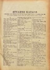 Stvarno kazalo k številkam 1. ( 4. 1. 1949) do 23. (31. XII. 1949) Vestnika urada za cene pri predsedstvu vlade LRS<br />Posebna izdaja Uradnega lista LRS