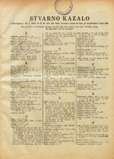 Stvarno kazalo k številkam 1. (26. I. 1950) do 21-22. (30. XII. 1950) Vestnika Urada za cene pri predsedstvu vlade LRS<br />Posebna izdaja Uradnega lista LRS
