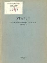 Statut Lesnoindustrijskega kombinata Vrhnika