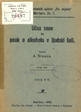 Učna snov za pouk o alkoholu v ljudski šoli