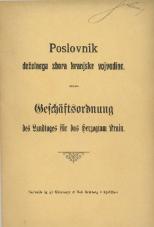 Poslovnik deželnega zbora kranjske vojvodine<br />Geschäftsordnung des Landtages für das Herzogtum Krain