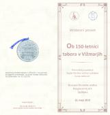 Ob 150-letnici tabora v Vižmarjih - strokovni posvet<br />Dvorana Slovenske matice, Ljubljana 16. maja 2019