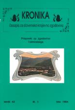 Kronika, 1994, št. 1<br />Kronika, 1994, No. 1