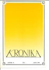 Kronika, 1993, št. 1<br />Kronika, 1993, No. 1