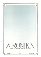 Kronika, 1992, št. 3<br />Kronika, 1992, No. 3