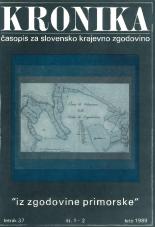 Kronika, 1989, št. 1-2<br />Kronika, 1989, No. 1-2