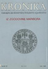 Kronika, 1983, št. 2-3<br />Iz zgodovine Maribora<br />Kronika, 1983, No. 2-3
