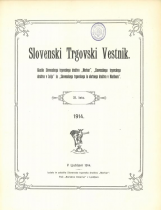 Slovenski trgovski vestnik<br />Glasilo Slovenskega trgovskega društva Merkur