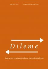 Dileme: razprave o vprašanjih sodobne slovenske zgodovine; letnik 2/2018, št. 1