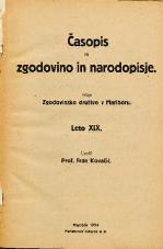 Časopis za zgodovino in narodopisje, 1924