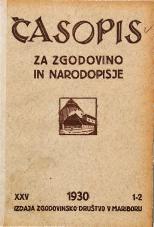 Časopis za zgodovino in narodopisje, 1930, št. 1-2