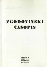 Zgodovinski časopis, 1951, št. 1-4<br />Zgodovinski časopis, 1951, no. 1-4