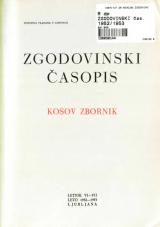 Zgodovinski časopis, 1952-1953<br />Kosov zbornik