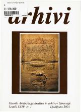 Arhivi, 2001, št. 1<br />Glasilo Arhivskega društva in arhivov Slovenije