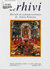 Arhivi, 2002, št. 1<br />Zbornik ob sedemdesetletnici dr. Jožeta Žontarja<br />Glasilo Arhivskega društva in arhivov Slovenije