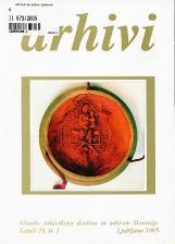 Arhivi, 2005, št. 1<br />Glasilo Arhivskega društva in arhivov Slovenije