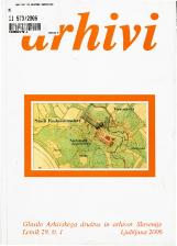 Arhivi, 2006, št. 1<br />Glasilo Arhivskega društva in arhivov Slovenije