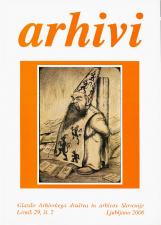 Arhivi, 2006, št. 2<br />Glasilo Arhivskega društva in arhivov Slovenije