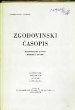 Zgodovinski časopis, 1969, št. 1-2<br />Zgodovinski časopis, 1969, no. 1-2