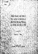 Primorski slovenski biografski leksikon<br />2. snopič<br />Bartol - Bor