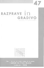 Razprave in gradivo, 2005, št. 47<br />Revija za narodnostna vprašanja