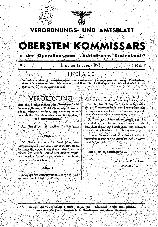 """Verordnungs- und Amtsblatt des Obersten Kommissars in der Operationszone """"Adriatisches Küstenland"""""""