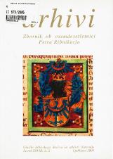 Arhivi, 2005, št. 2<br />Zbornik ob osemdesetletnici Petra Ribnikarja<br />Glasilo Arhivskega društva in arhivov Slovenije