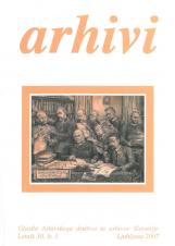 Arhivi, 2007, št. 1<br />Glasilo Arhivskega društva in arhivov Slovenije