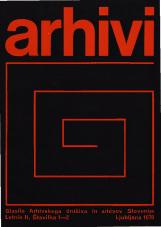 Arhivi, 1979, št. 1-2<br />Glasilo Arhivskega društva in arhivov Slovenije