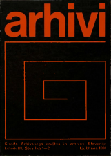 Arhivi, 1980, št. 1-2<br />Glasilo Arhivskega društva in arhivov Slovenije