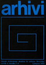 Arhivi, 1982, št. 1-2<br />Glasilo Arhivskega društva in arhivov Slovenije