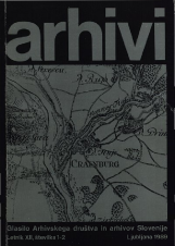 Arhivi, 1989, št. 1-2<br />Glasilo Arhivskega društva in arhivov Slovenije