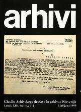 Arhivi, 1990, št. 1-2<br />Glasilo Arhivskega društva in arhivov Slovenije