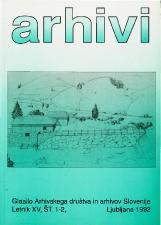 Arhivi, 1992, št. 1-2<br />Glasilo Arhivskega društva in arhivov Slovenije