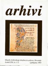 Arhivi, 1993, št. 1-2<br />Glasilo Arhivskega društva in arhivov Slovenije