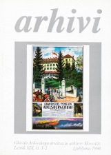 Arhivi, 1996, št. 1-2<br />Glasilo Arhivskega društva in arhivov Slovenije<br />Arhivi, 1996, no. 1-2<br />The Gazette of the Archival Association and Archives of Slovenia