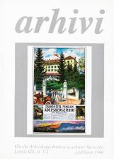 Arhivi, 1996, št. 1-2<br />Glasilo Arhivskega društva in arhivov Slovenije