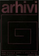 Arhivi, 1981, št. 1-2<br />Glasilo Arhivskega društva in arhivov Slovenije
