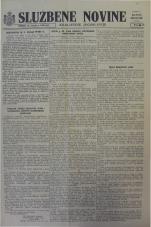 Službene novine Kraljevine Jugoslavije, ratno izdanje, 1944, br. 20