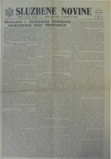 Službene novine Kraljevine Jugoslavije, ratno izdanje, 1945, br. 021