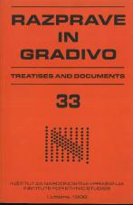 Razprave in gradivo, 1998, št. 33<br />Revija za narodnostna vprašanja