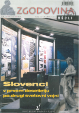 Zgodovina v šoli, 2002, št. 3-4<br />Slovenci v prvem desetletju po drugi svetovni vojni