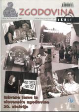 Zgodovina v šoli, 2005, št. 3-4<br />Izbrane teme iz slovenske zgodovine 20. stoletja