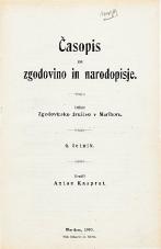 Časopis za zgodovino in narodopisje, 1909