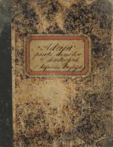 Pevsko društvo Adrija v Barkovljah (Trst)<br />Tajniška knjiga 1894 – 1912