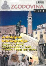 Zgodovina v šoli, 2002, št. 1<br />Jubilejna bibliografija objav v reviji Zgodovina v šoli v letih 1992 do 2001