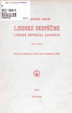 Stenografski zapiski Ljudske skupščine Ljudske republike Slovenije<br />(Tretji sklic)<br />Seje od 15.decembra 1953 do 28.februarja 1954