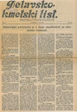 Delavsko - kmetski list št. 18