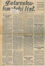 Delavsko - kmetski list št. 20